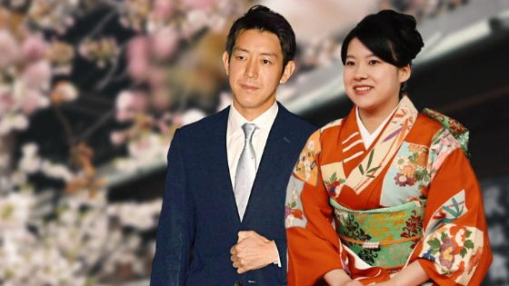 Matrimonio giapponese, principessa Ayako e Kei Moriya