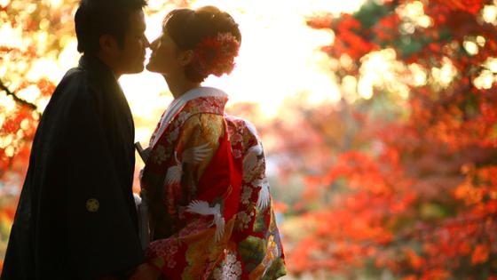 Ispirazioni per un matrimonio in Giappone in autunno