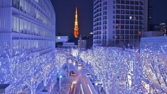 Romantici spettacoli di luce in Giappone